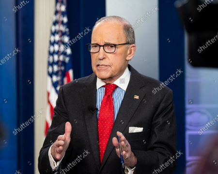 Editorial photo of Director of the National Economic Council Larry Kudlow television interview, Washington DC, USA - 17 Jan 2020