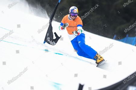 Roland Fischnaller of Italy competes during the final race