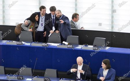 Editorial picture of Resumption of session and order of business, EP Parliament, Strasbourg, France - 13 Jan 2020