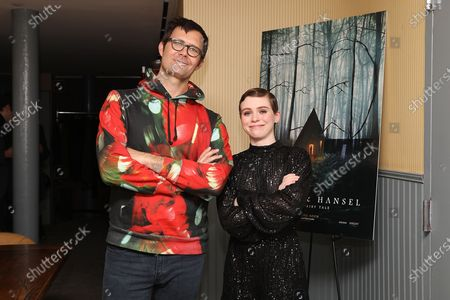Stock Image of Oz Perkins (Director) and Sophia Lillis