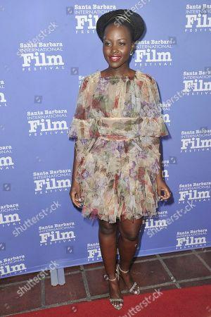 Lupita Nyong'o attends the 2020 Santa Barbara International Film Festival Montecito Award, in Santa Barbara, Calif