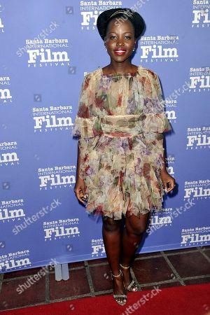 Lupita Nyong'o attends the 2020 Santa Barbara International Film Festival Montecito Award event, in Santa Barbara, Calif