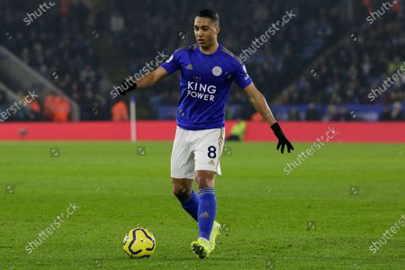 22nd January 2020, King Power Stadium, Leicester, England; Premier League, Leicester City v West Ham United : Youri Tielemans (8) of Leicester City on the ball