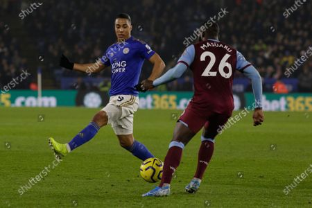 22nd January 2020, King Power Stadium, Leicester, England; Premier League, Leicester City v West Ham United : Arthur Masuaku (26) of West Ham United on the ball