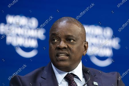 Mokgweetsi Eric Keabetswe Masisi, President of Botswana, during a plenary session during the 50th annual meeting of the World Economic Forum, WEF, in Davos, Switzerland, 21 January 2020. The meeting brings together entrepreneurs, scientists, corporate and political leaders in Davos from January 21 to 24.