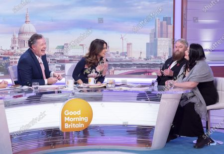 Piers Morgan and Susanna Reid with Brian Blessed and Rosalind Blessed