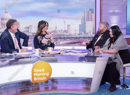 Stock Image of Piers Morgan and Susanna Reid with Brian Blessed and Rosalind Blessed