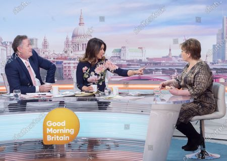 Piers Morgan and Susanna Reid with Emily Thornberry