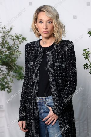 French actress Laura Smet poses before Chanel Haute Couture Spring/Summer 2020 fashion collection, Tuesday Jan.21, 2020 in Paris