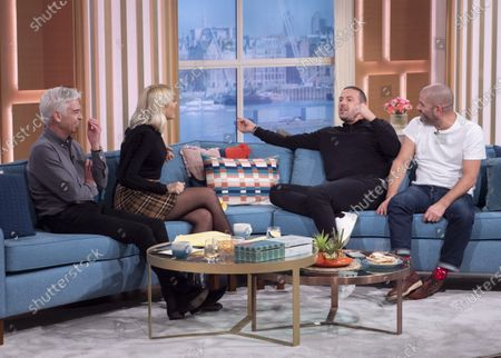 Stock Image of Phillip Schofield and Holly Willoughby with Paddy McGuinness and Chris Harris