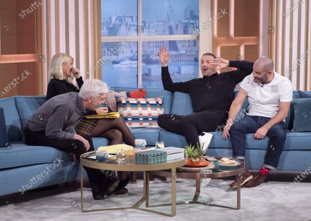 Phillip Schofield and Holly Willoughby with Paddy McGuinness and Chris Harris