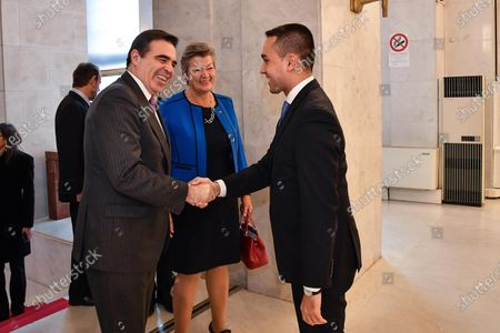Editorial picture of EU Commission Vice President Margaritis Schinas in Rome, Italy - 21 Jan 2020