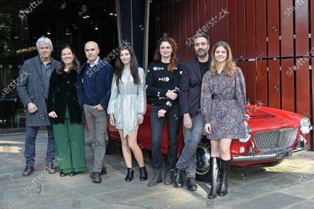 Domenico Procacci, Eleonora Andreatta, Lorenzo Mieli, Gaia Girace, Alice Rohrwacher, Saverio Costanzo and Margherita Mazzucco at the season 2 photocall