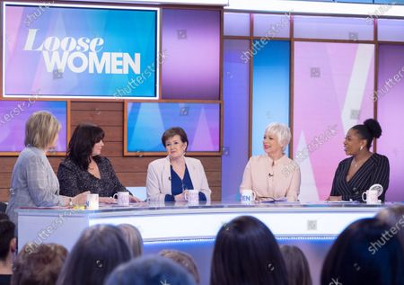 Stock Image of Ruth Langsford, Coleen Nolan, Denise Nolan, Denise Welch and Brenda Edwards