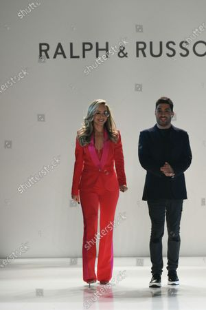 Stock Picture of Tamara Ralph and Michael Russo on the catwalk