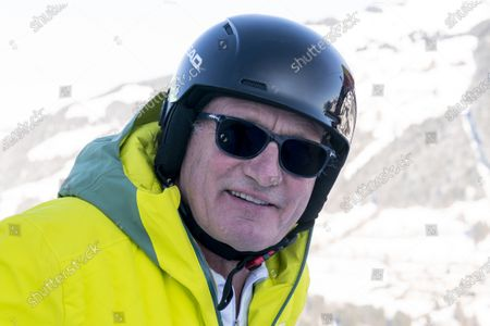 KITZBUEHEL, AUSTRIA - : image shows ski legend Franz Klammer at the Hausberg Kante during FIS Ski World Cup - 80. Hahnenkamm Race Kitzbuehel - Preview - on in Kitzbuehel, Austria. (Photo by IBEX/ESPA-Images)