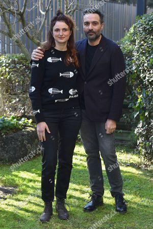 Alice Rohrwacher and Saverio Costanzo at the season 2 photocall