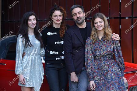 Stock Picture of Gaia Girace, Alice Rorhwacher, Saverio Costanzo and Margherita Mazzucco at the season 2 photocall