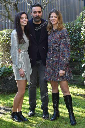 Stock Photo of Gaia Girace, Saverio Costanzo and Margherita Mazzucco at the season 2 photocall