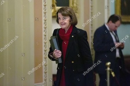 United States Senator Dianne Feinstein (Democrat of California) makes her way to the Senate Floor at the United States Capitol, as the Senate formally starts the impeachment trial against President Trump.