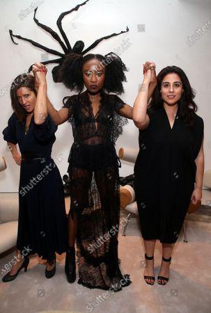 Stock Picture of Chelsea Winstanley, Nana Ghana, Sophia Kiapos