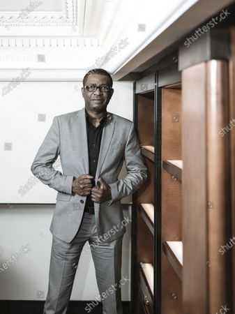 Editorial image of Youssou N'dour at the Hotel Scribe, Paris, France - 12 Apr 2019