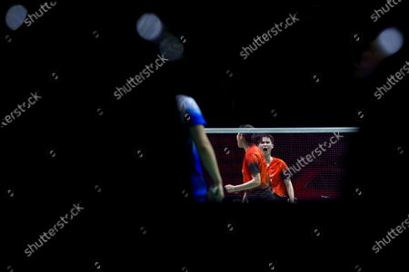 China's Li Wen Mei (R) and Zheng Yu react during their women's doubles match against China's Liu Xuan Xuan and Xia Yu Ting on day 1 of the Badminton Princess Sirivannavari Thailand Masters 2020 in Bangkok, Thailand, 21 January 2020. The Princess Sirivannavari Thailand Masters 2020 runs from 21 to 26 January 2020.