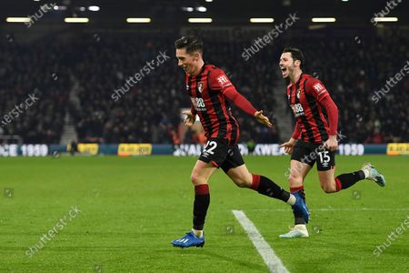 Harry Wilson of AFC Bournemouth celebrates scoring the first goal with ten mate Adam Smith of AFC Bournemouth during AFC Bournemouth vs Brighton & Hove Albion, Premier League Football at the Vitality Stadium on 21st January 2020
