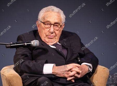 Former United States Secretary of State Henry Kissinger delivers a speech during an event in which German Chancellor Merkel is awarded the Henry Kissinger Prize at the Great Orangery at Charlottenburg Palace in Berlin, Germany, 21 January 2020. The Henry Kissinger Prize is awarded by the American Academy in Berlin for exceptional contributions to transatlantic relations.