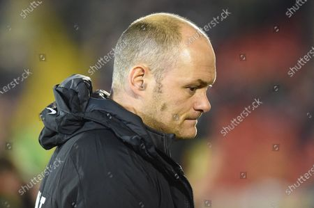 Preston North End Manager Alex Neil before the EFL Sky Bet Championship match between Barnsley and Preston North End at Oakwell, Barnsley