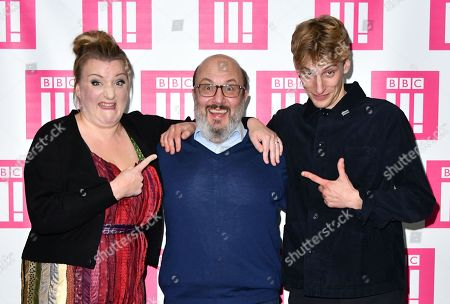 Stock Image of Daisy May Cooper, Paul Chahidi and Charlie Cooper