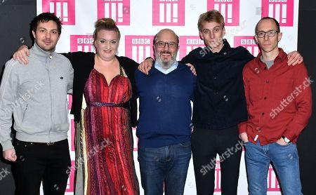 Simon Mayhew-Archer, Daisy May Cooper, Paul Chahidi, Charlie Cooper and Tom George