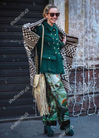 Editorial picture of Street Style, Autumn Winter 2020, Milan Fashion Week Men's, Italy - 12 Jan 2020
