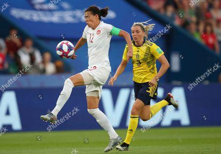 Editorial image of Canada Women Qualifying Soccer, Paris, France - 24 Jun 2019