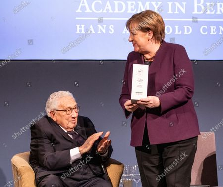 Editorial picture of Henry Kissinger Prize awarded to Chancellor Angela Merkel, Berlin, Germany - 21 Jan 2020