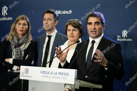Stock Image of Virginie Duby-Muller, Guillaume Peltier, Annie Genevard and Christian Jacob