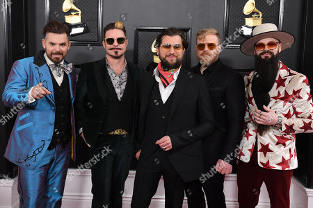 Stock Photo of Rival Sons - Michael Miley, Scott Holiday, Jay Buchanan, Dave Beste and Todd Ogren-Brooks
