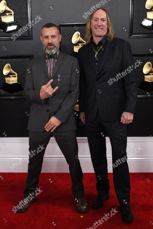 Stock Picture of Tool - Justin Chancellor and Danny Carey