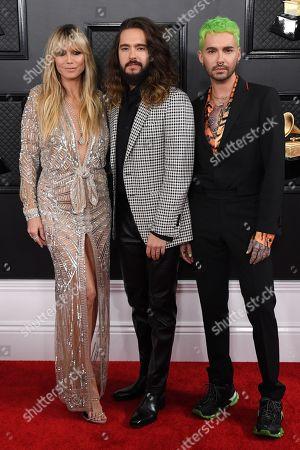 Stock Image of Heidi Klum, Tom Kaulitz and Bill Kaulitz