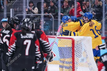 Editorial picture of Japan - Sweden, Women's Ice Hockey Final, Winter Youth Olympic Games, Lausanne, Switzerland - 21 Jan 2020