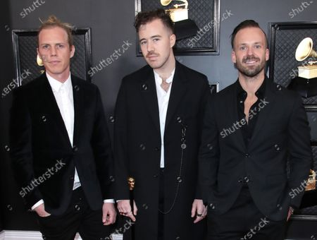 Stock Picture of Tyrone Lindqvist, Jon George and James Hunt of Rüfüs Du Sol