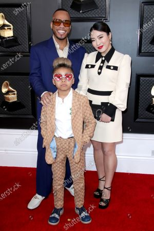 Anderson Paak and Jae Lin with their son Soul Rasheed