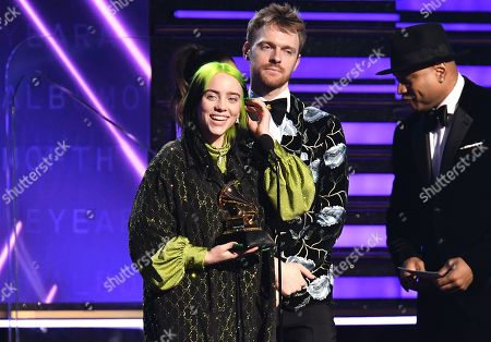 Billie Eilish and Finneas O'Connell - Album of the Year - When We All Fall Asleep, Where Do We Go? - presented by LL Cool J