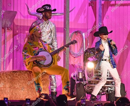 Stock Picture of Diplo, Lil Nas X and Mason Ramsey