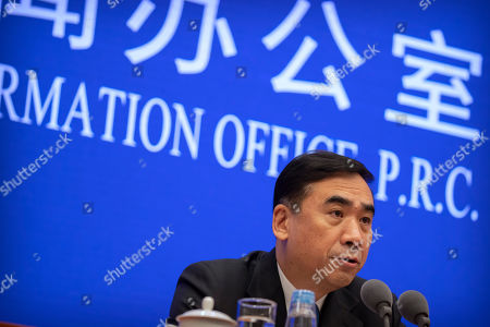Li Bin, deputy director of China's National Health Commission, speaks during a press conference about a new type of coronavirus spreading in China at the State Council Information Office in Beijing, . Li told reporters that all the deaths had been in Hubei province, home to Wuhan city where the first illnesses from coronavirus were reported in late December