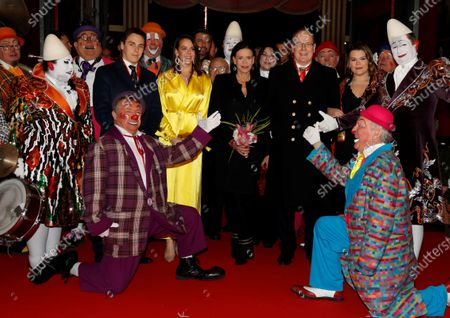 Louis and Pauline Ducruet, Princess Stephanie, Prince Albert II of Monaco and Camille Gottlieb attend the gala of the 44th Monte-Carlo International Circus Festival in Monaco, 21 January 2020.