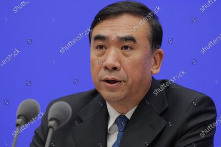 Li Bin, Vice minister of the National Health Commission, speaks about prevention and control of the new coronavirus-related pneumonia during a press conference held by the State Council Information Office, in Beijing, China, 22 January 2020.