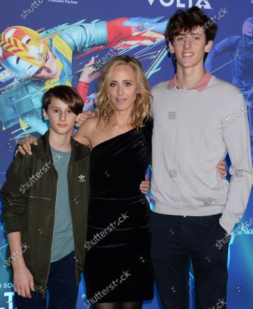 Stock Picture of Leo Kipling Boyer, Kim Raver and Luke West Boyer