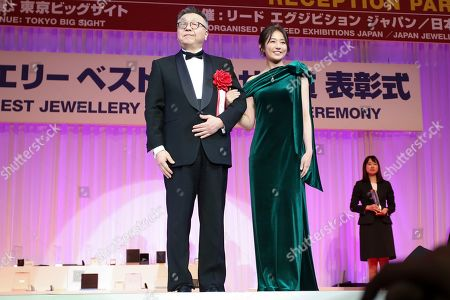 Editorial photo of Japan Best Jewellery Wearer Awards Ceremony, Tokyo, Japan - 21 Jan 2020