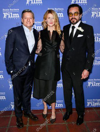 Ted Sarandos, Laura Dern and Roger Durling